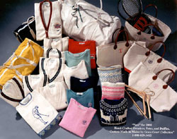 OUR FAMOUS CUSTOM MADE IN MAINE TOTES & SPORTS DUFFELS